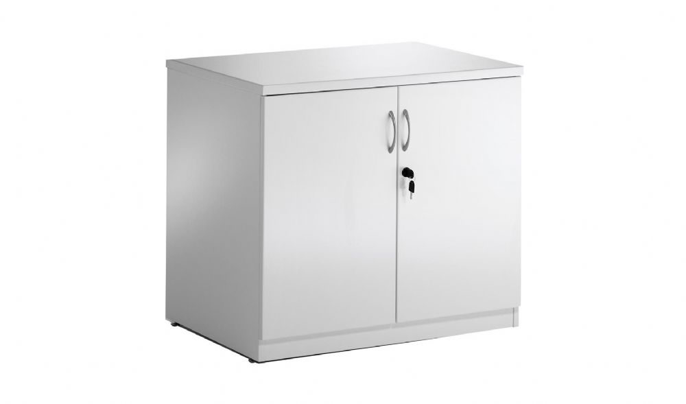 High Gloss Desk High Cupboard in a White Finish RF01SC-012